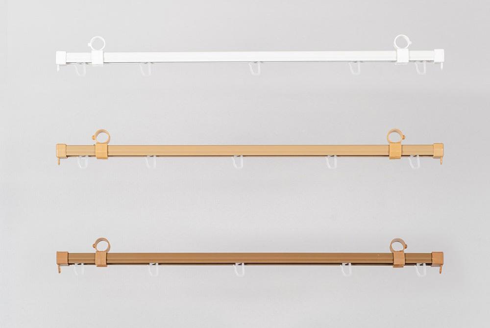 Bėgeliai metaliniai sukomplektuoti Ø28мм karnizams