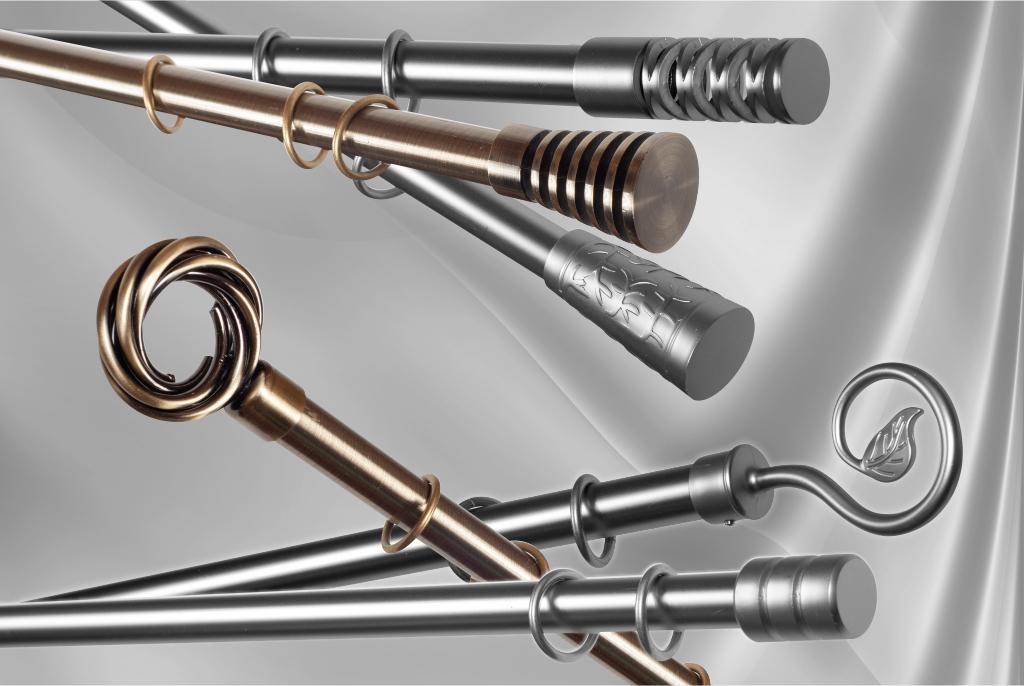 Metal curtain rods Ø19mm in separate details 1