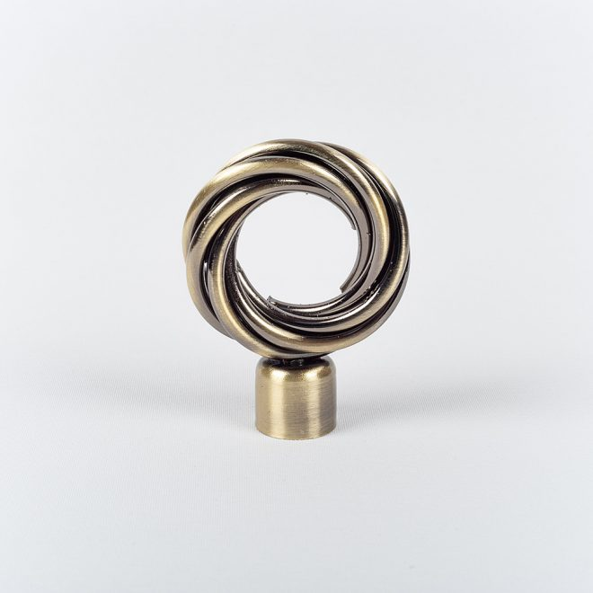 Ending for curtain rod ROMA Ø19mm bright aged gold colour