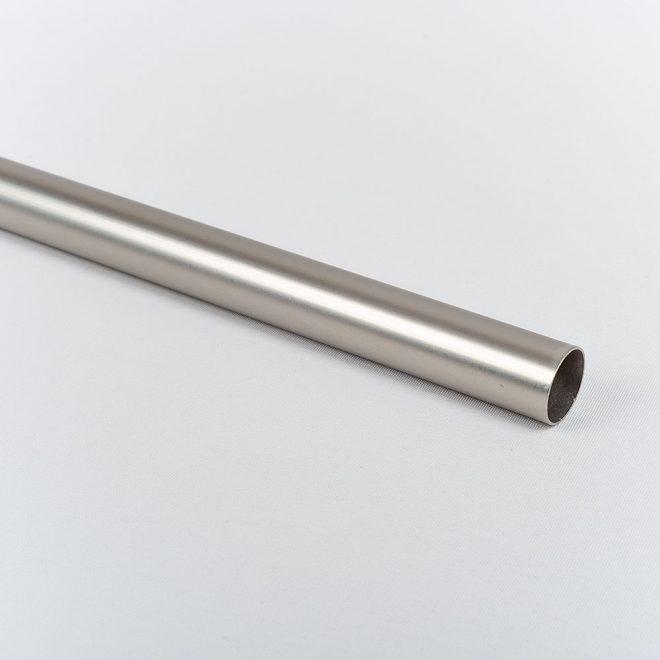 Curtain tube ESTILO Ø19mm bright matte silver colour