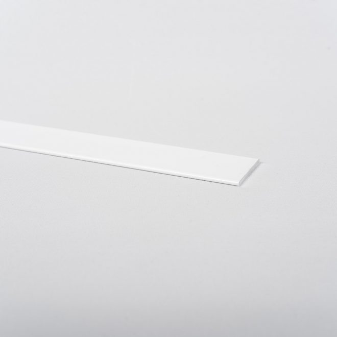Aluminium strip for weight 3x25mm 200g/m roman blind cloth white colour No. 10.12003BL