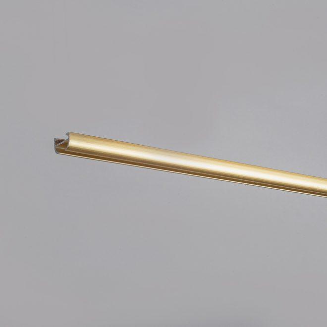 Aluminium system D-PROFILIS matte gold colour