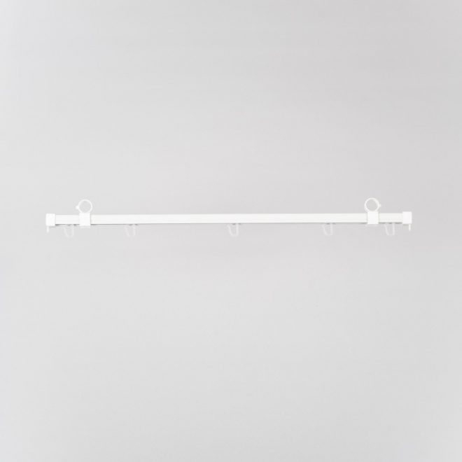 Curtain rail Ø28mm for curtain rods white colour