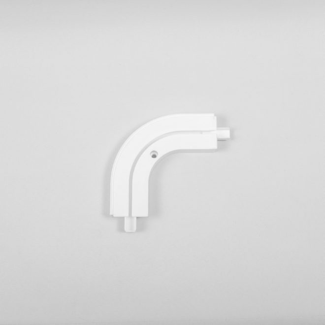 Outward corner for ceiling mounted CM curtain rails 1 rail white colour