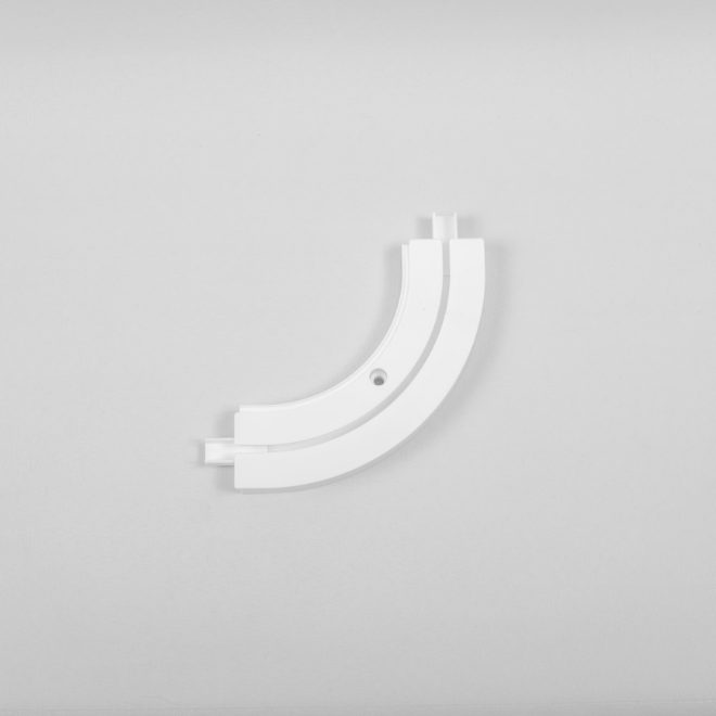 Inside corner for ceiling mounted CM curtain rails 1 rail white colour