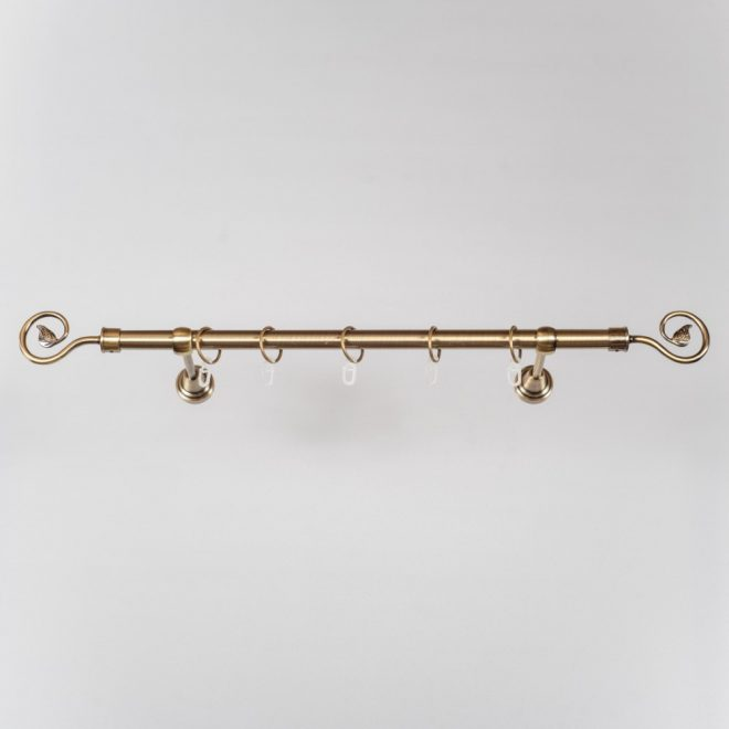 Curtain rod LUKA Ø19mm single bright aged gold colour 3