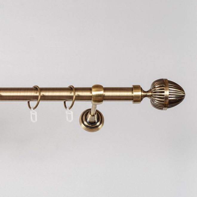 Curtain rod ODE Ø25mm single bright aged gold colour 3