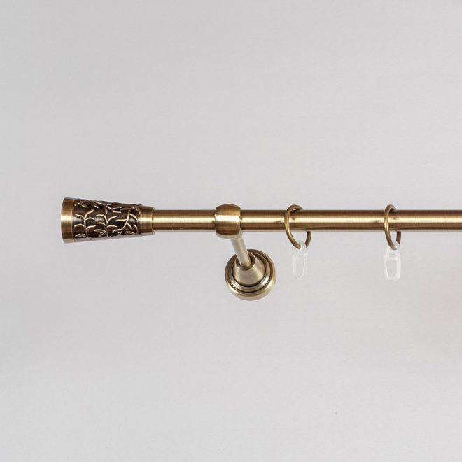 Curtain rod SEVILLA Ø16mm single bright aged gold colour
