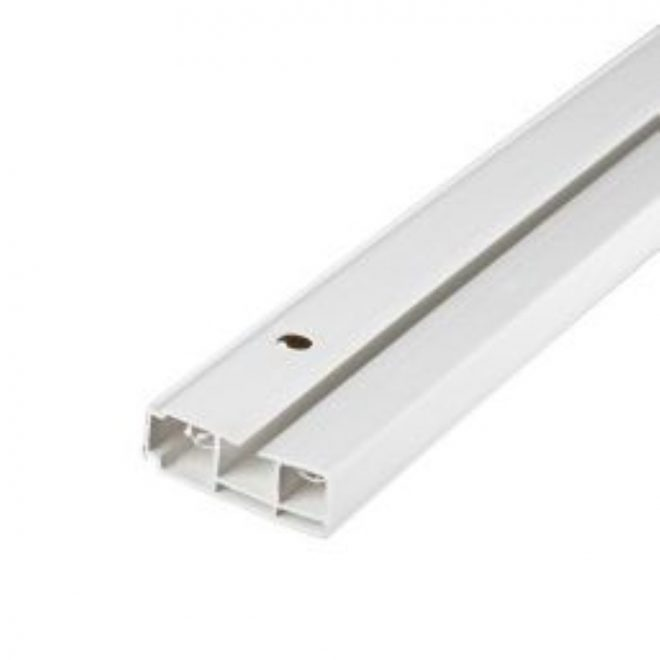 Ceiling mounted CM curtain rail 1 rail white colour