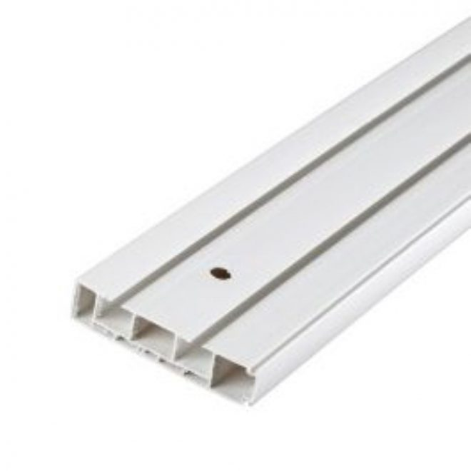 Ceiling mounted CM curtain rail 2 rails white colour