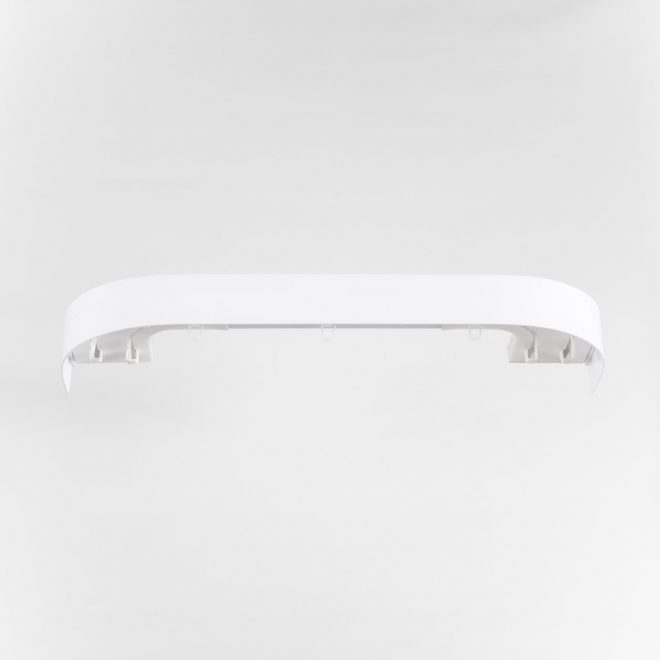 Ceiling mounted CM curtain rail 2 rails sets white colour 1