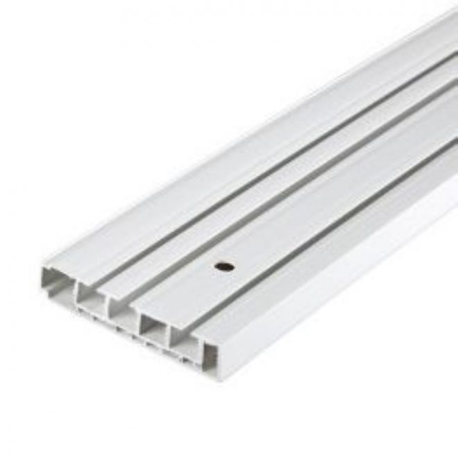 Ceiling mounted CM curtain rail 3 rails white colour