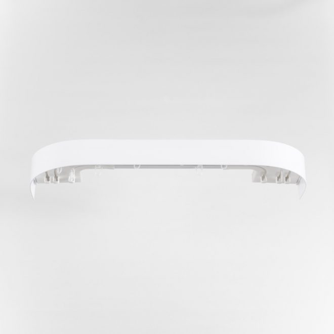 Ceiling mounted CM curtain rail 3 rails sets white colour 1