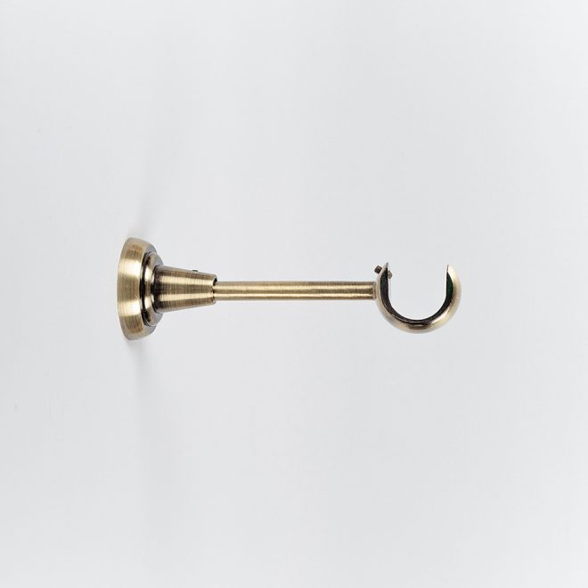 Holder for curtain rod STYL L14cm and L20cm Ø25mm mural-ceiling single bright aged gold colour