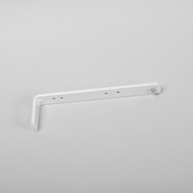 Metal wall holder L13,7cm white colour No.15