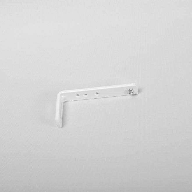 Metal wall holder L8,7cm white colour No.10