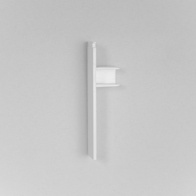 Endings for ceiling mounted curtain rail white colour