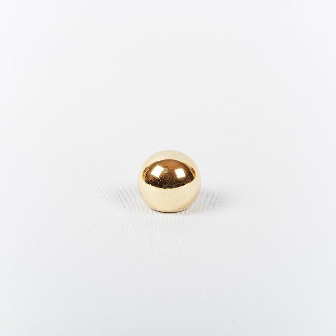 Ending for curtain rod KULA Ø16mm shiny gold colour.