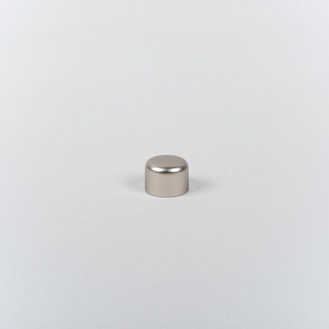 Ending for curtain rod PICOLO Ø16mm bright matte silver colour
