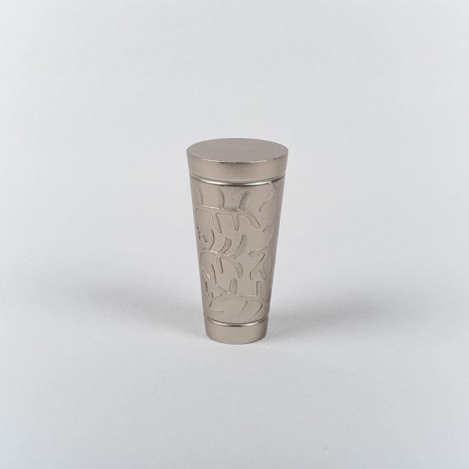 Ending for curtain rod SEVILLA Ø16mm bright matte silver colour