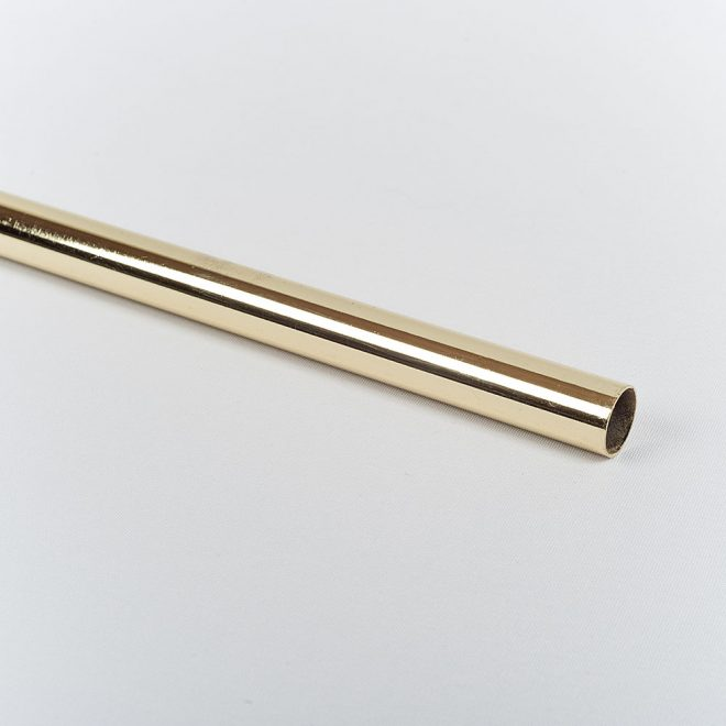 Curtain tube CLASSIC Ø16mm shiny gold colour.