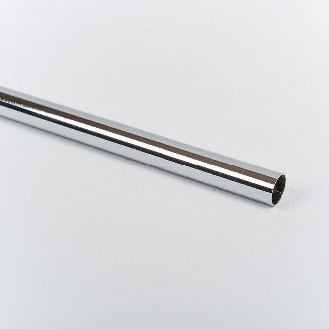Curtain tube CLASSIC Ø16mm shiny silver colour.