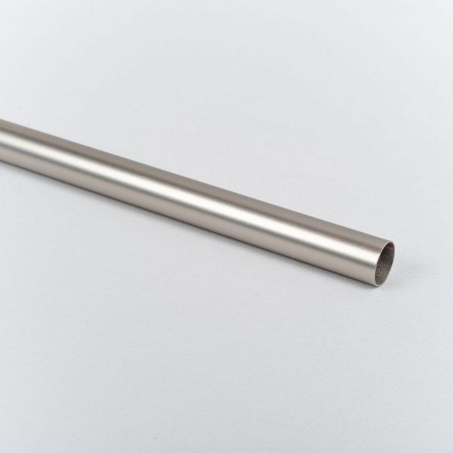 Curtain tube MODERN Ø16mm bright matte silver colour