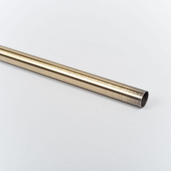 Curtain tube MODERN Ø16mm bright aged gold colour