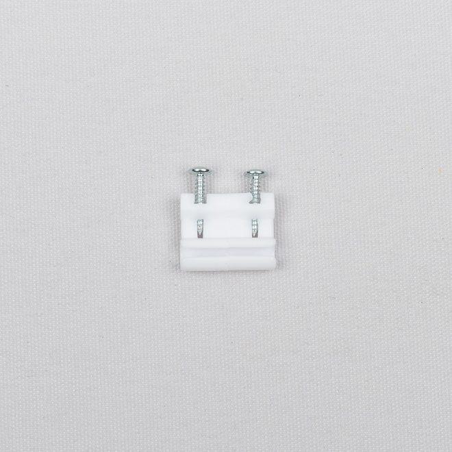 Cord connector plastic white colour No. 85