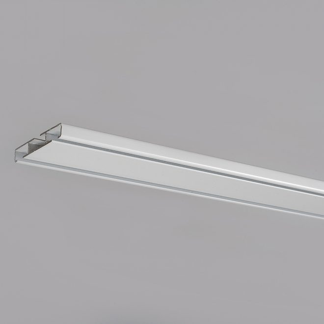 Aluminium profile UNIVERSAL 1 and 2 rails, white colour