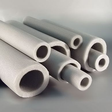 Puffed polyethylene insulation tubes