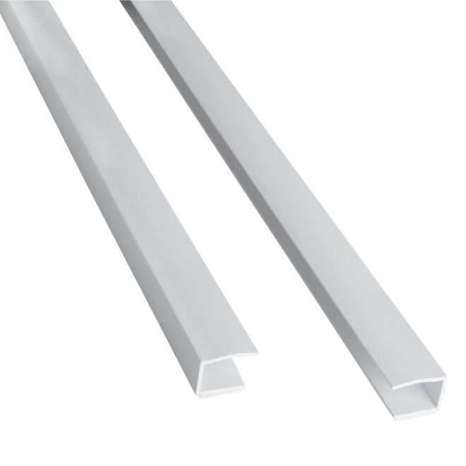 Side guide profile for rollers L150cm white colour
