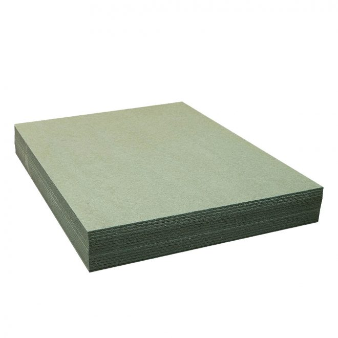 Soft wood fibre board KONSTRUKTOR for floor leveling and insulation green colour