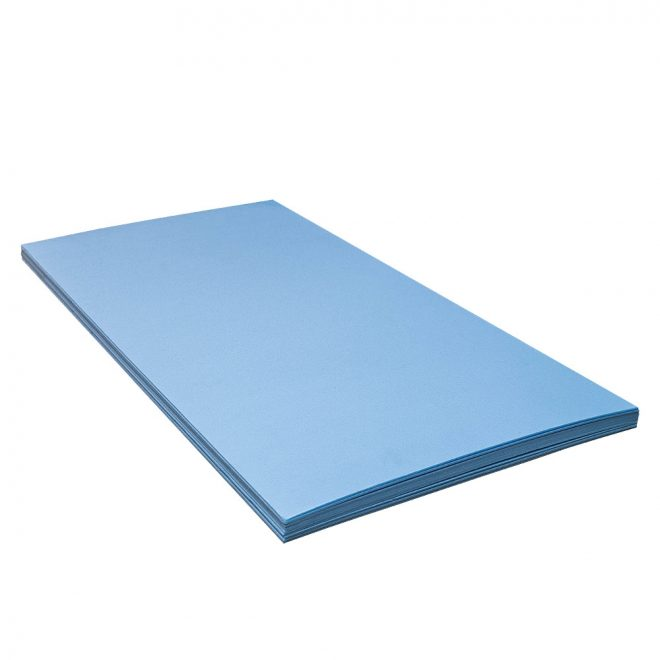 Flooring underlay IZO NORD panels blue colour