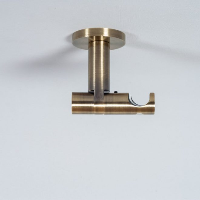 Holder for curtain rod ASPEN NOVA L7cm Ø19mm to the ceiling single bright aged gold colour 1