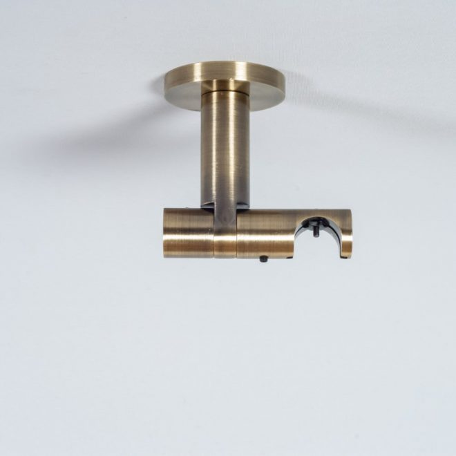 Holder for curtain rod ASPEN NOVA L7cm Ø19mm to the ceiling single bright aged gold colour