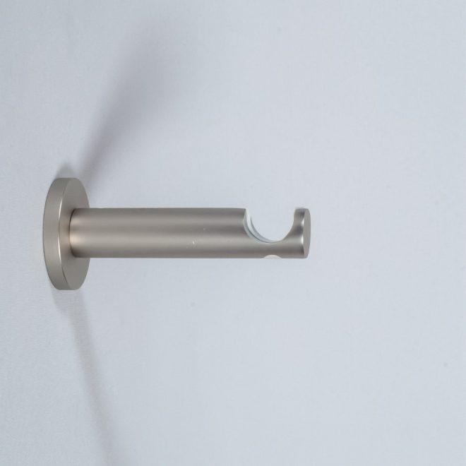 Holder for curtain rod ASPEN NOVA L9-14cm Ø19mm single bright matte silver colour 1