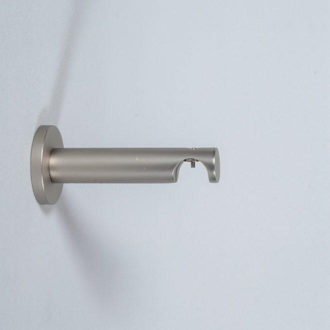 Holder for curtain rod ASPEN NOVA L9-14cm Ø19mm single bright matte silver colour
