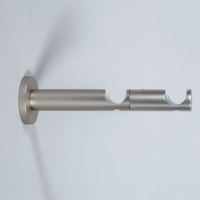 Holder for curtain rod ASPEN NOVA L9 15cm Ø19 19mm double bright matte silver colour 1