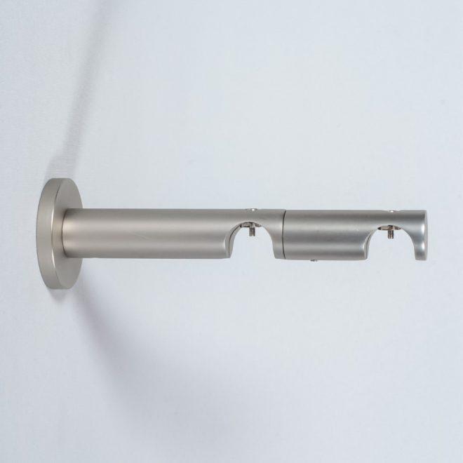 Holder for curtain rod ASPEN NOVA L9 15cm Ø19 19mm double bright matte silver colour