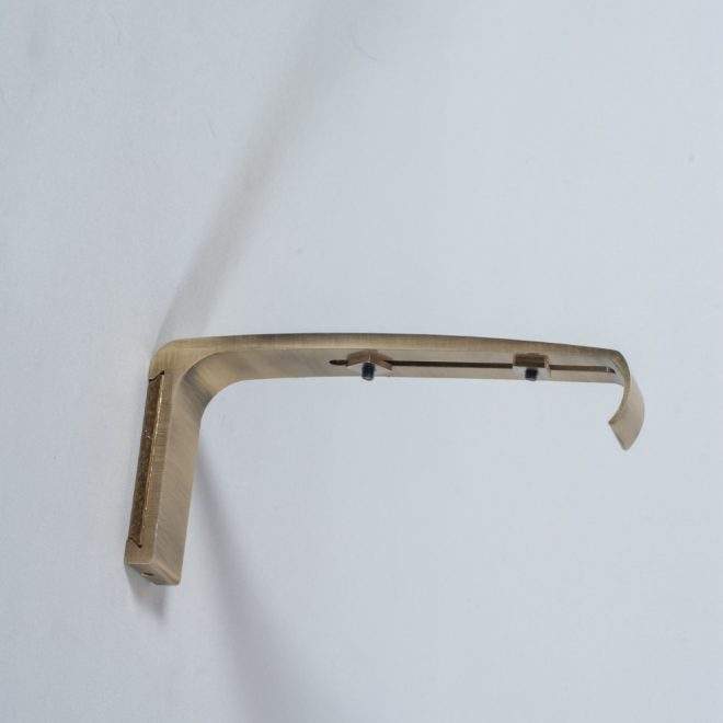 Holder for curtain rod ASPEN L14cm bright aged gold colour