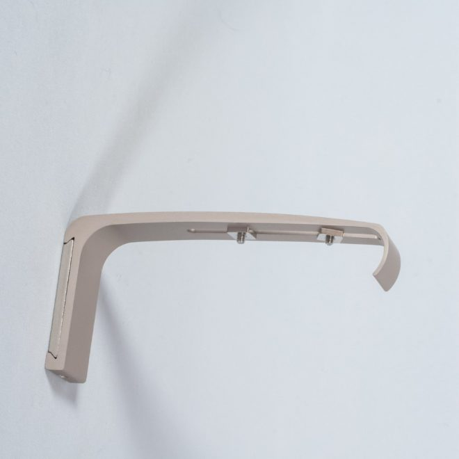 Holder for curtain rod UNIVERSAL L14cm bright matte silver colour