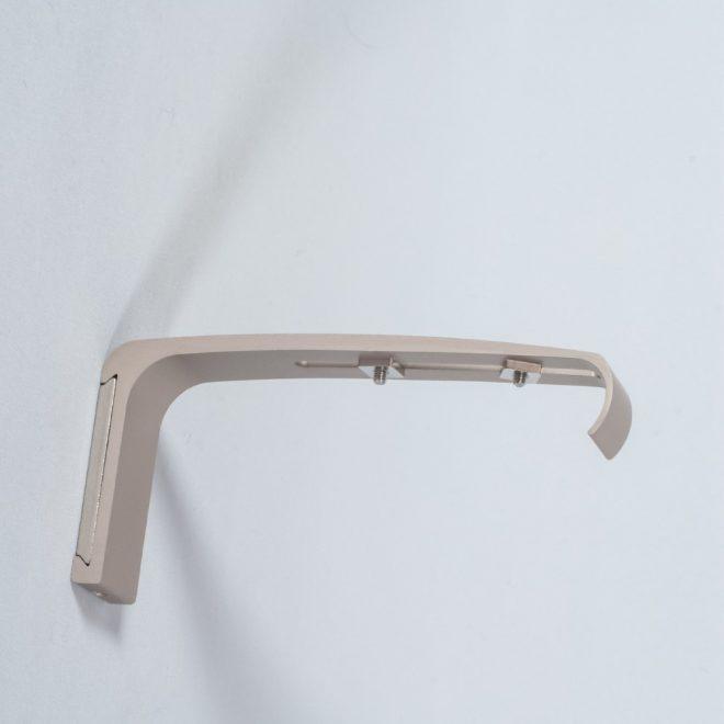 Holder for curtain rod ASPEN L14cm bright matte silver colour