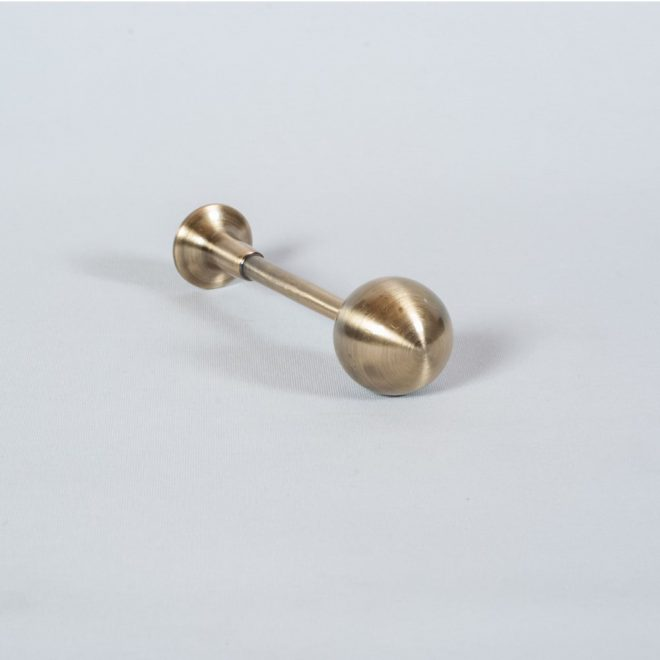 Holders for curtains AM L11cm bright aged gold colour