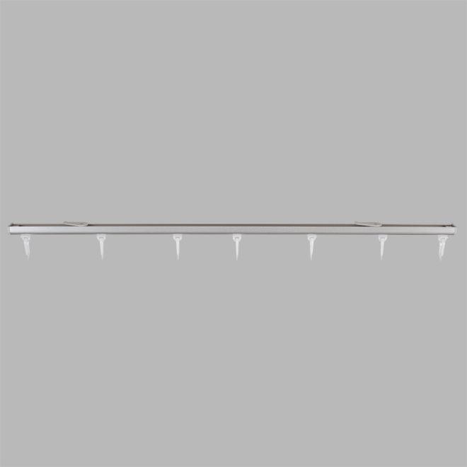 Aluminium system D-PROFILIS set matte silver colour