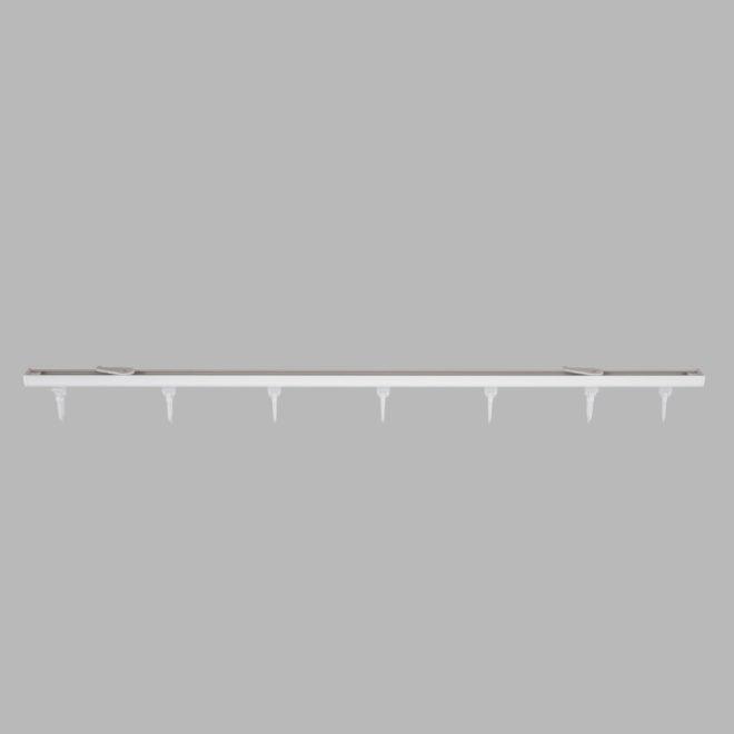 Aluminium system D-PROFILIS set white colour.