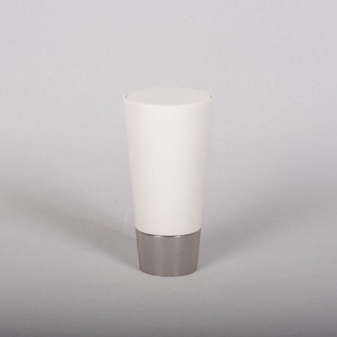 Ending for curtain rod IMPERIA Ø19mm matte white chrome colour