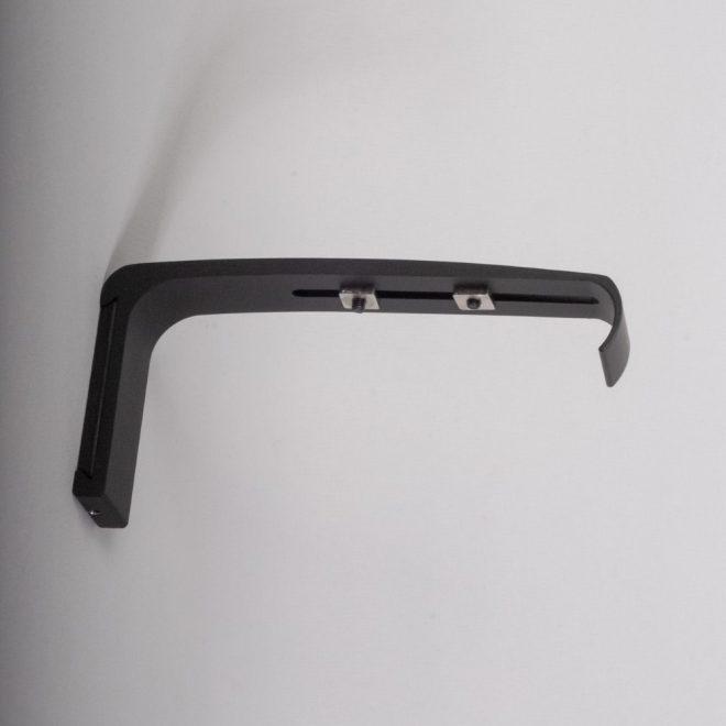 Holder for curtain rod ASPEN L14cm matte black colour