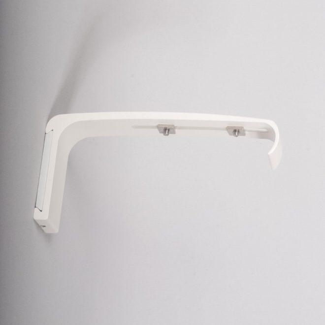 Holder for curtain rod ASPEN L14cm matte white colour