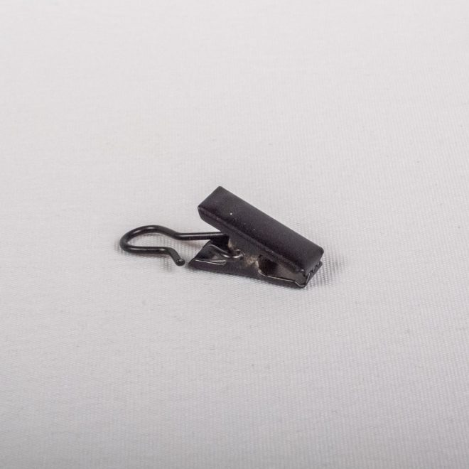 Metal curtain clips for the slider black colour No. 760
